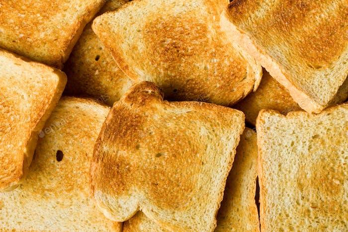 Haufen geröstetes Brot