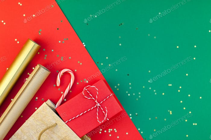 New Year or Christmas presents preparation