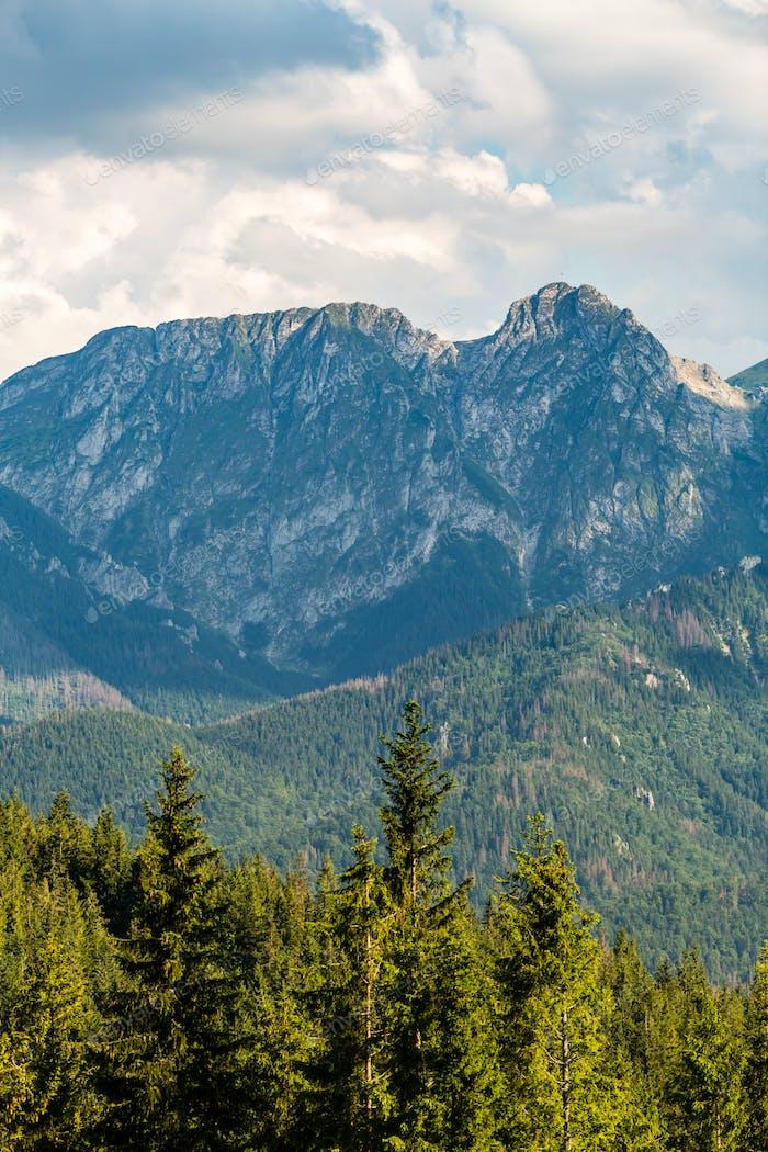 Giewont Mountain, Inspiring Mountains Landscape in summer Tatras