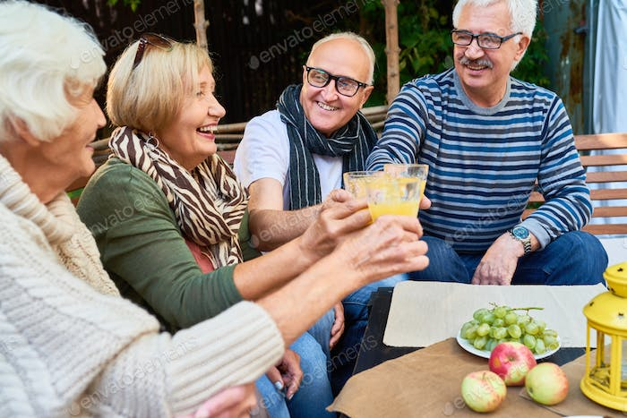 Outdoor Party for Senior Friends