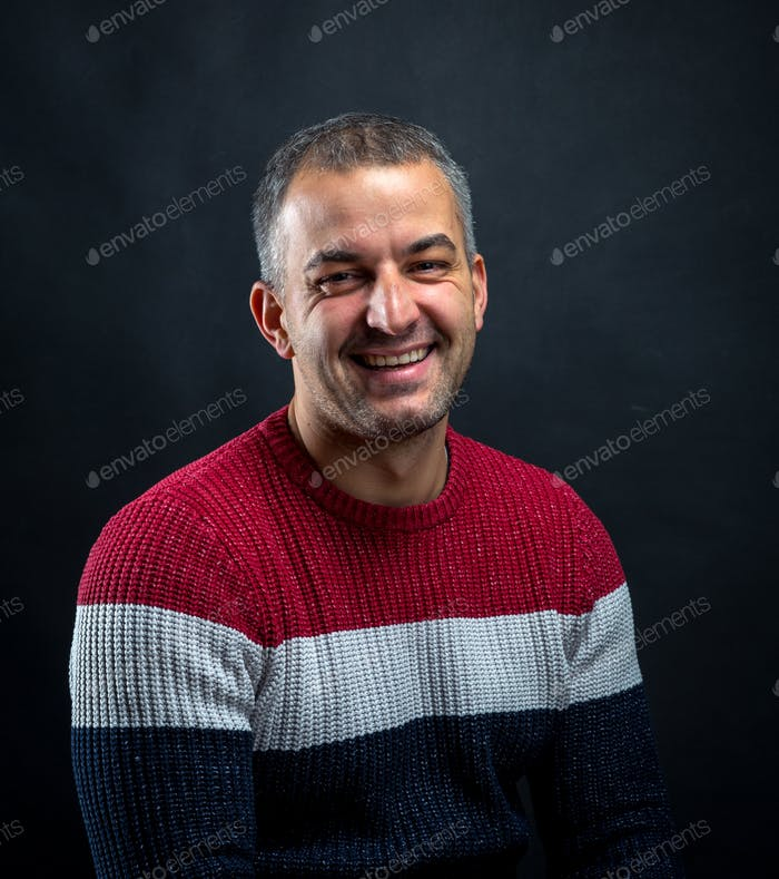 Portrait of smiling man isolated.