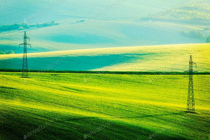 Moravian summer rolling landcsape