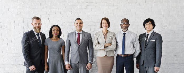Negocios Equipo Office Worker Concepto Emprendedor