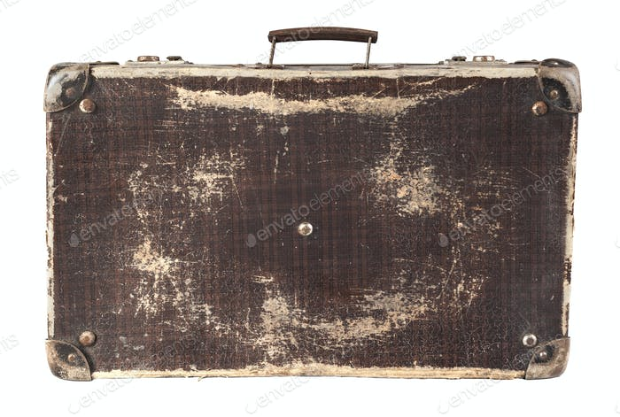 Isolated Brown Suitcase