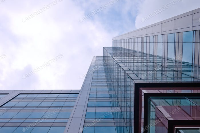 Office Building from worm eyes view
