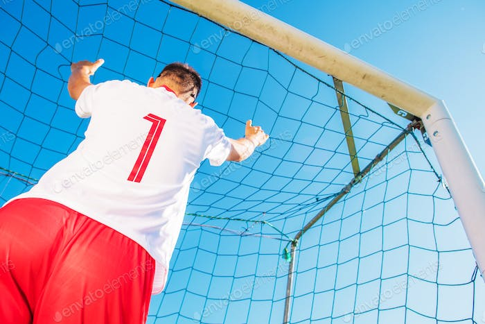 Goalkeeper in the Goal