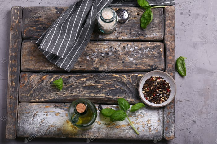 Kitchen Wooden Background