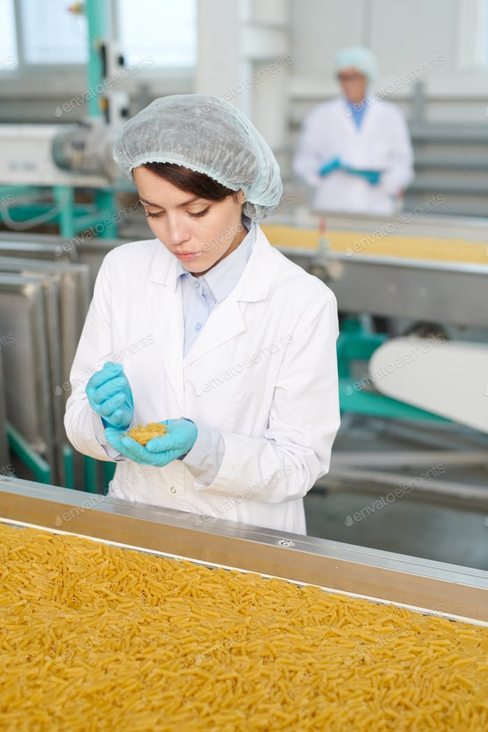 Young Woman at Production Line