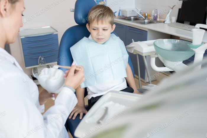 Little Boy in Dental Clinic
