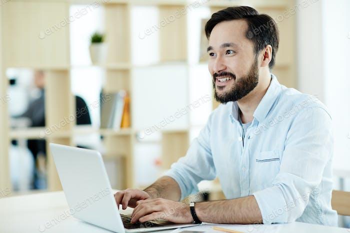 Office worker browsing