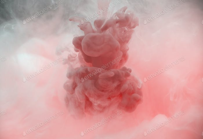 Acrylic color dissolving in water