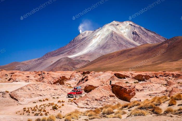 Auto Erkundung von Altiplano
