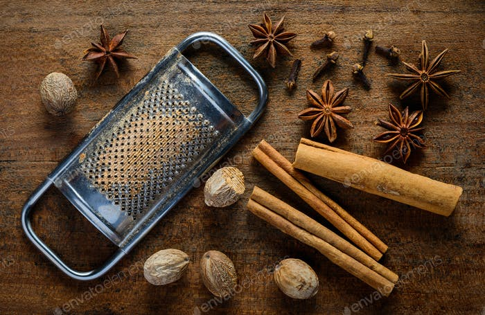 Nutmeg Grater and Spices