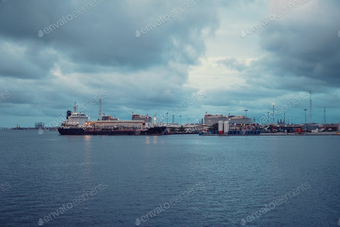 Marine Industrial Commercial Port. Industrial zone
