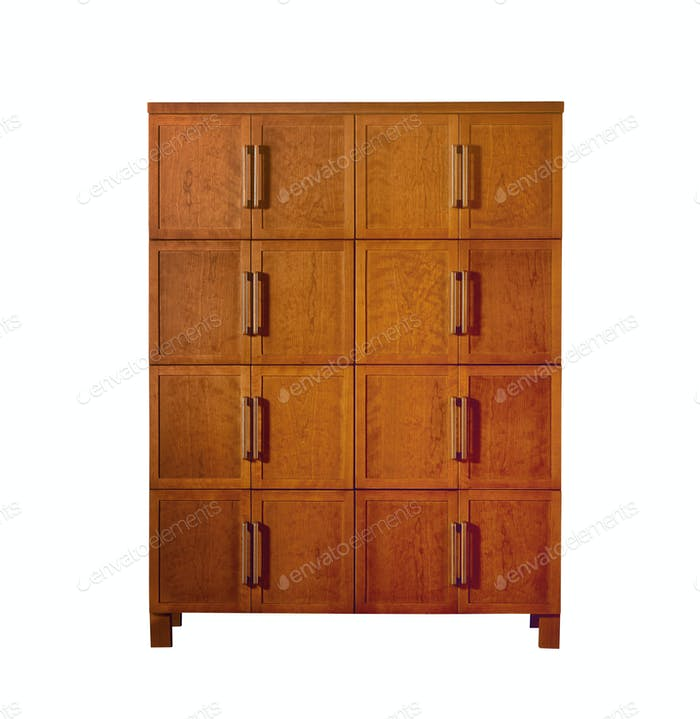 beautiful modern locker. isolated on white. (clipping path)