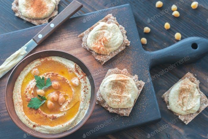 Bowl of hummus