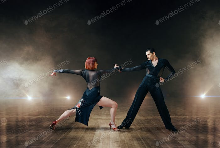 Elegant dancers, latin ballrom dance on stage