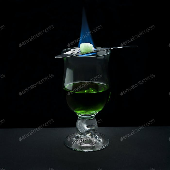 bohemian way of serving absinth
