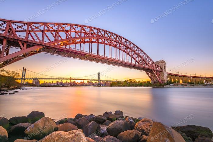 Hell Gate Bridge in New York City
