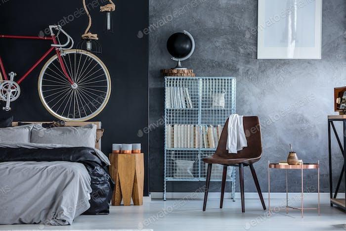 Black and grey walls