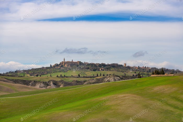 The Val d'Orcia in Tuscany Italy