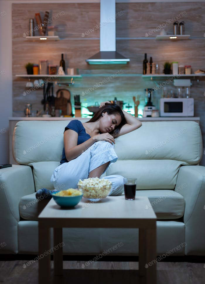 Sleeping in front television