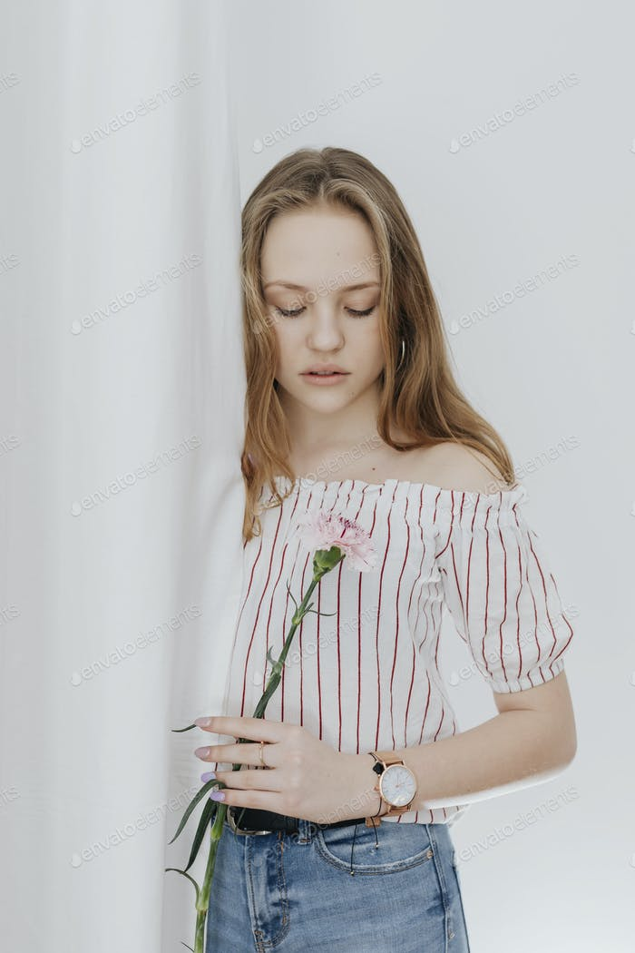 Girl with a carnation