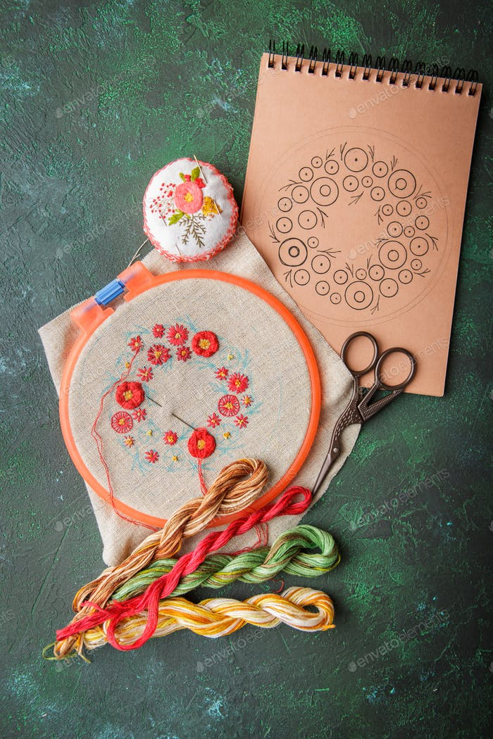 Set for embroidery