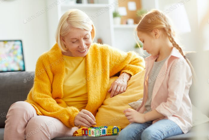 Mature Woman Playing with Girl