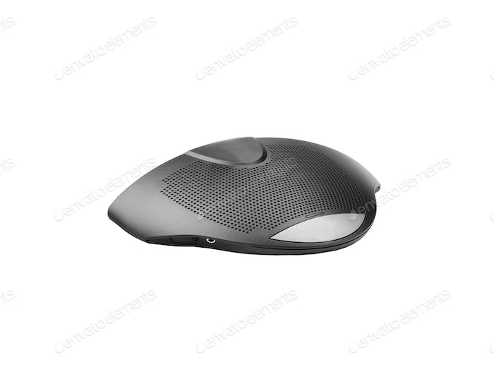 Computer microphone on white background