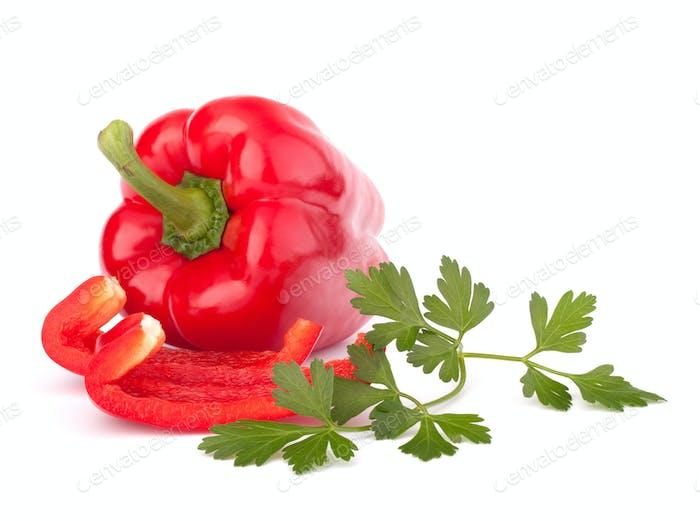 roter Pfeffer auf weißem Hintergrund isoliert