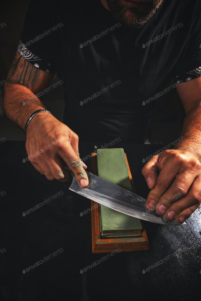 Knife sharpening process