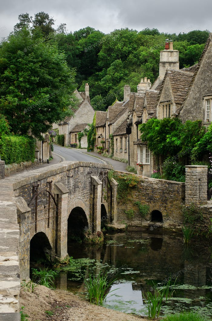Castle Combe bridge in the Cotswolds
