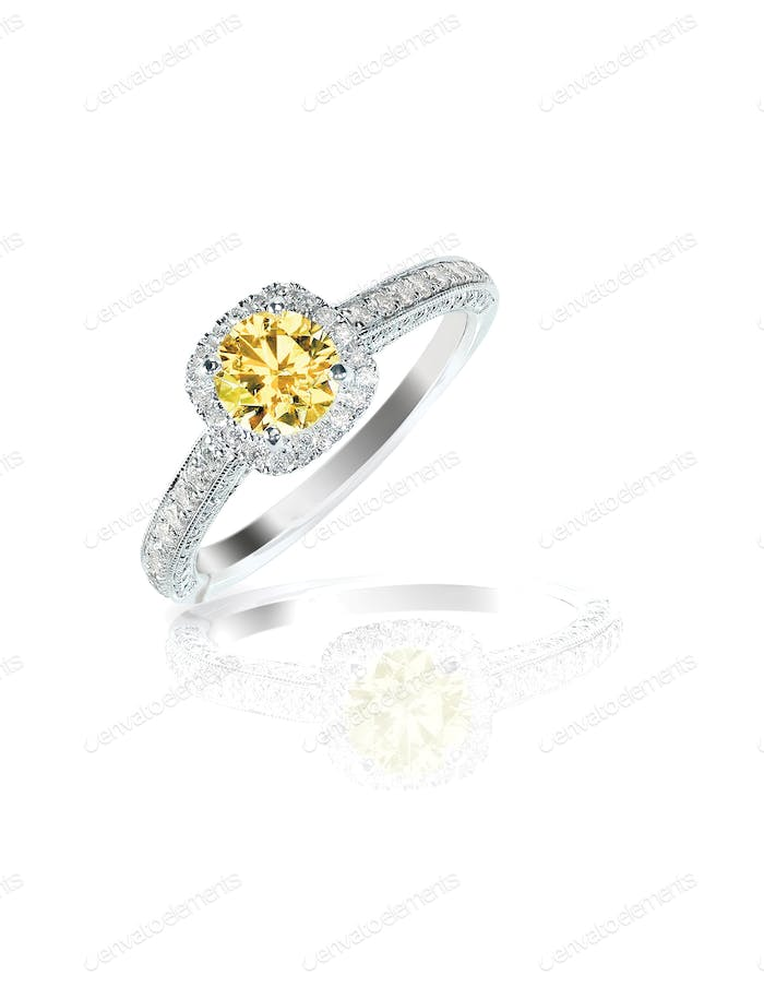 yellow diamond colored engagement ring topaz citrine