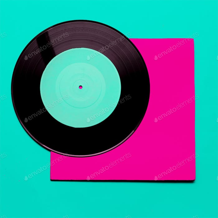 Vinyl Retro minimal art design