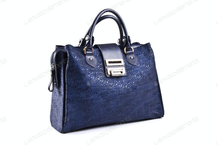 Blue women bag isolated