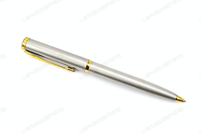 Pen silver-gold