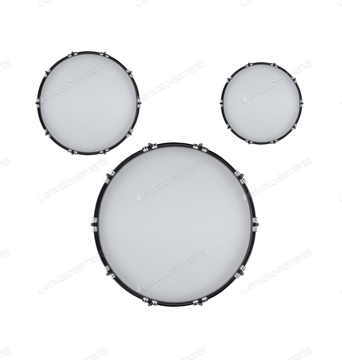 drums isolated on white