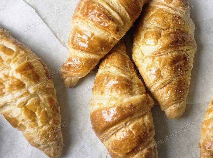Hausgemachte Croissant Food Fotografie Rezeptidee