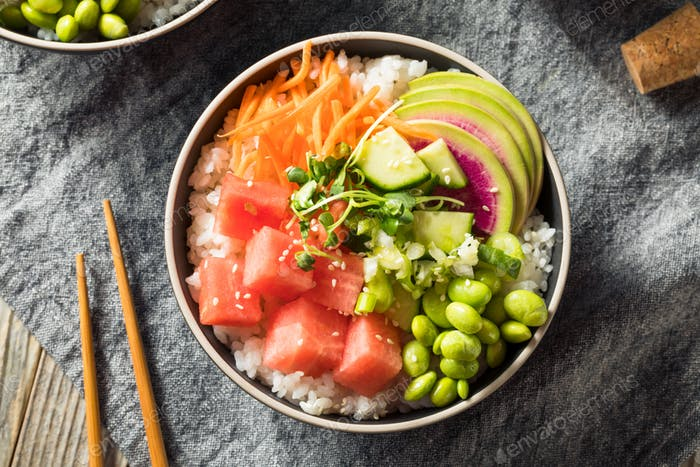 Homemade Vegan Poke Bowl