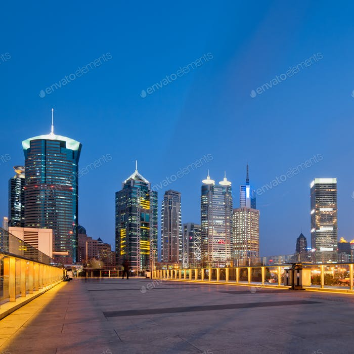 panorama of Shanghai