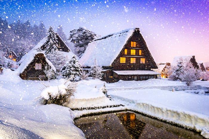 Shirakawago Village in Winter