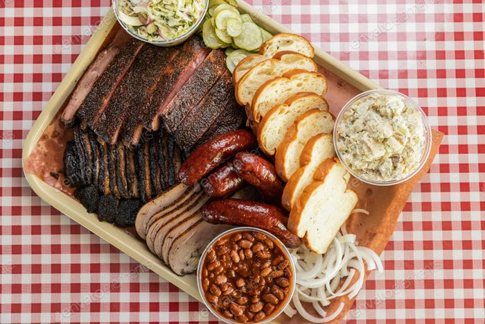 Plate of Texas Barbecue