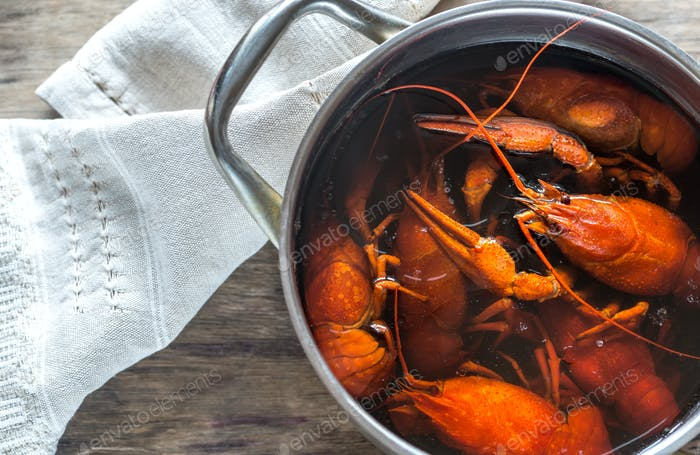 Boiled crayfish