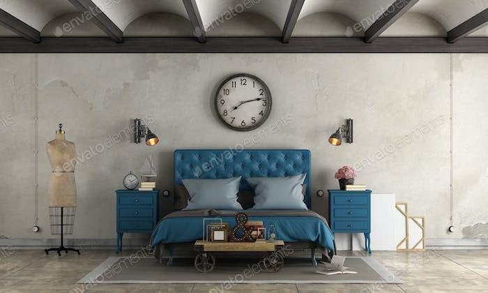 Schlafzimmer im industriellen Stil