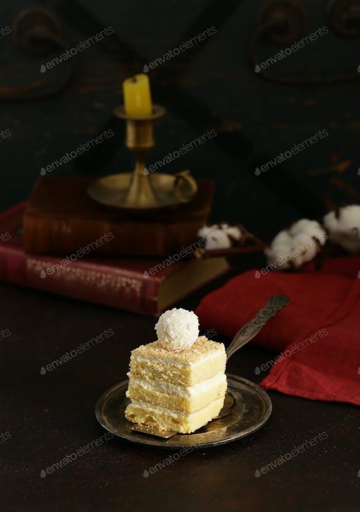 Piece of Coconut Cake