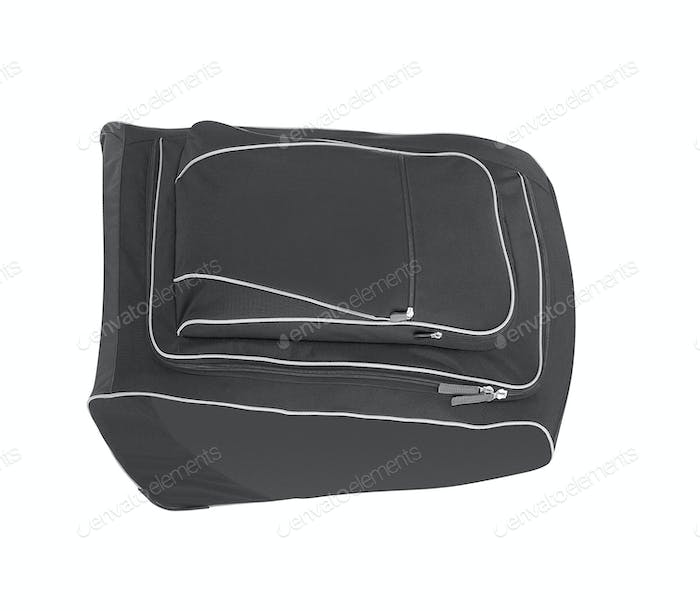 Bag for pair of hockey skates isolated