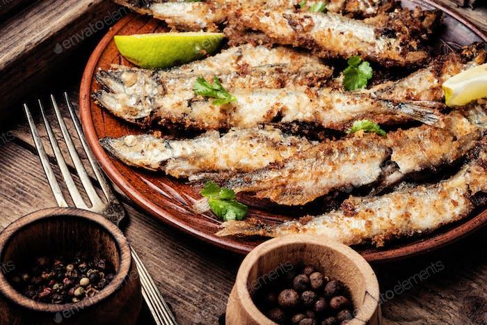 Deep fried fish