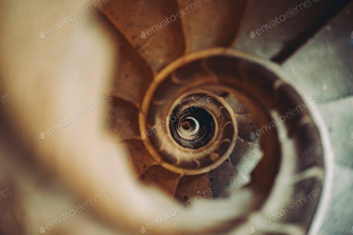 Wendelsteintreppe, die runter geht. Barcelona