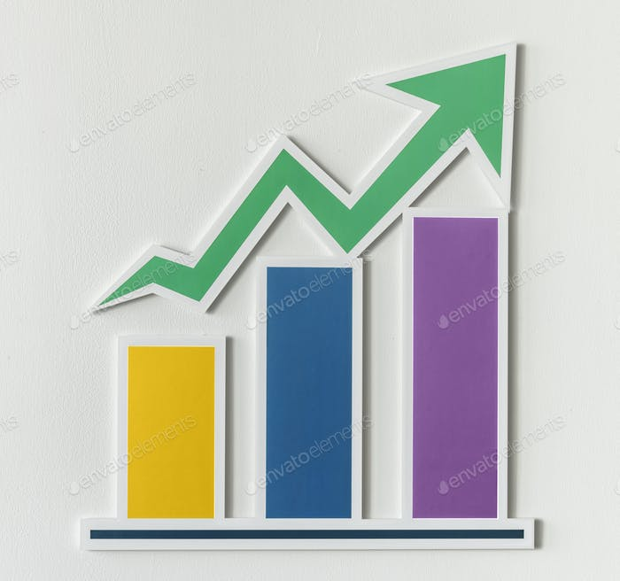 Business growth bar chart icon